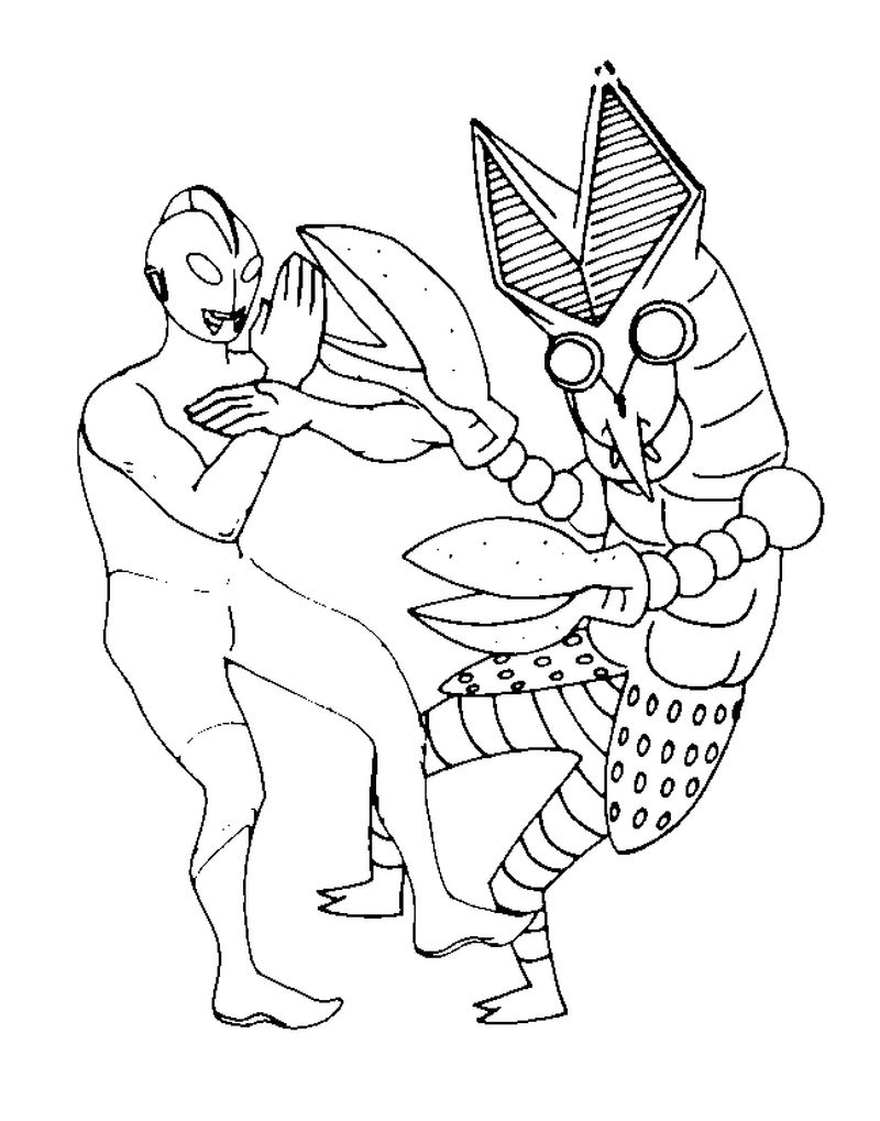 colouring pages ultraman print