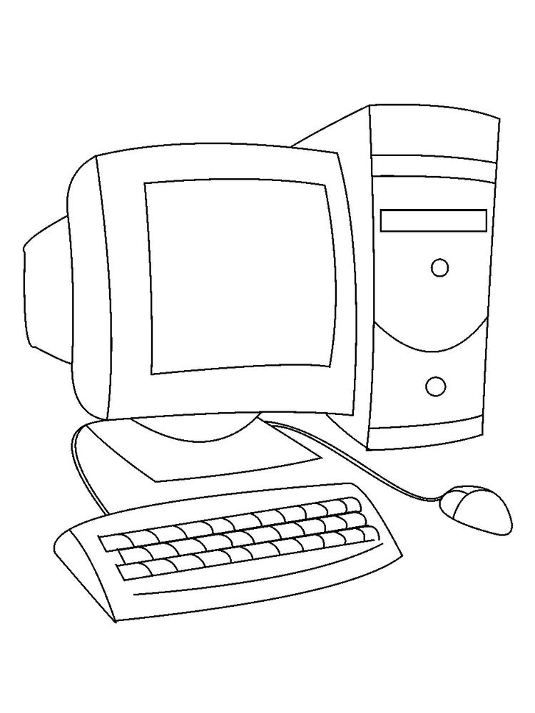 computer coloring pages to print