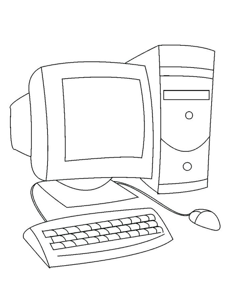 computer mouse coloring page print