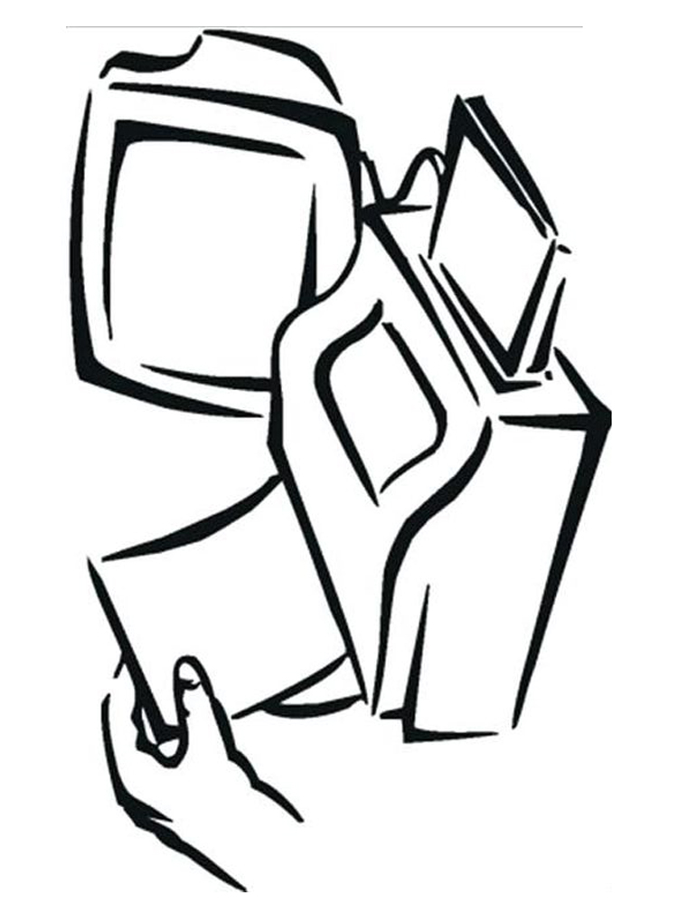computer screen coloring page