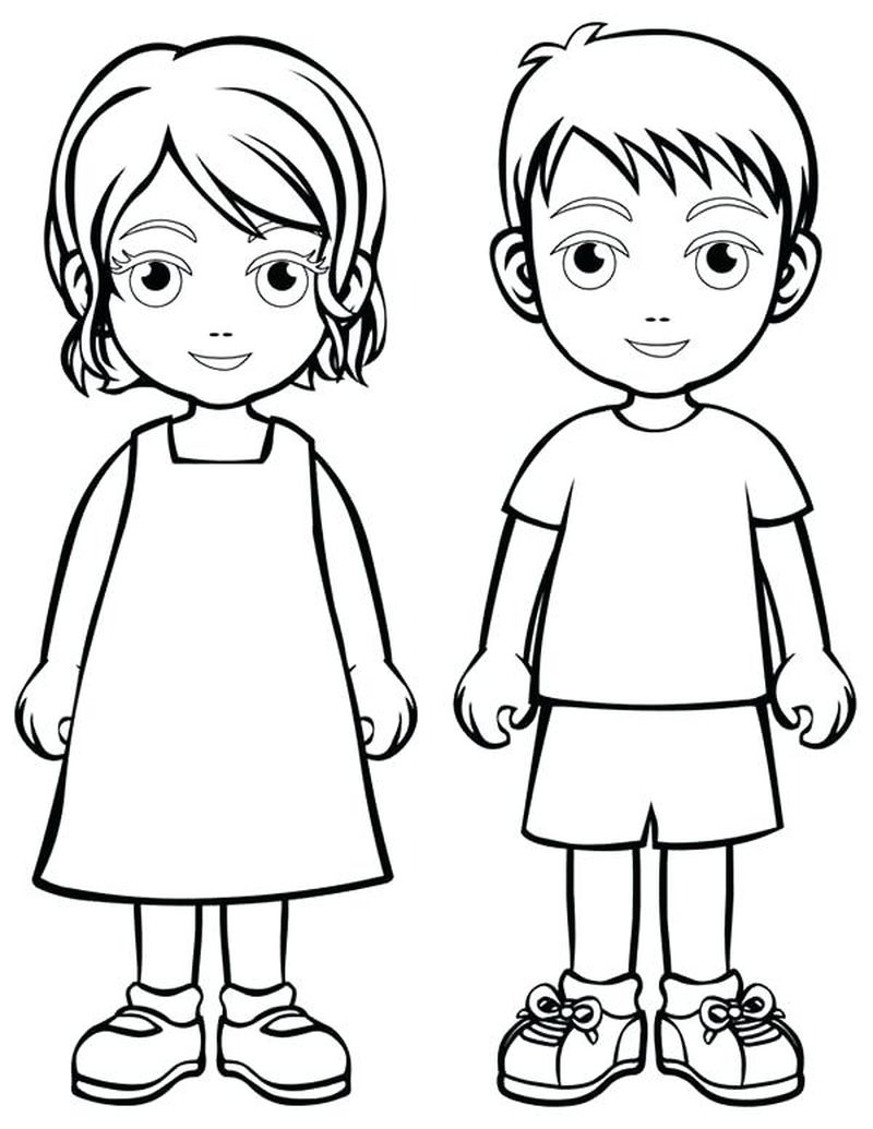 cool coloring pages of people