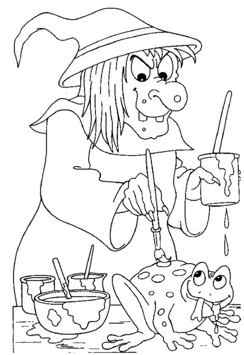 cute witch coloring pages Printable