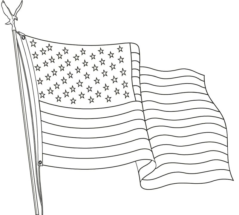 download american flag coloring page Printable