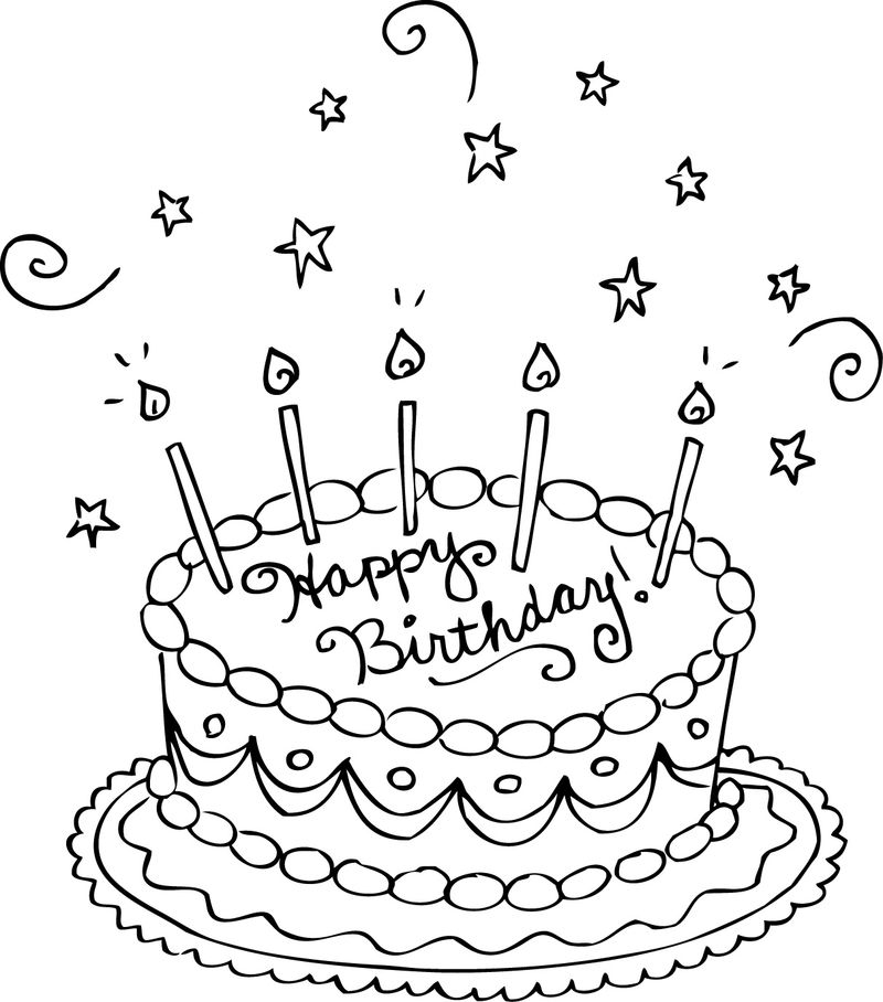 download happy birthday coloring pages to printable