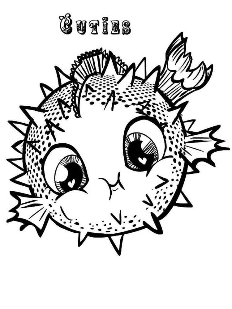 download puffer fish coloring pages printable