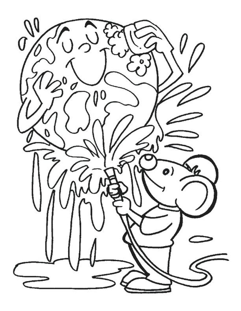 earth day birthday coloring pages