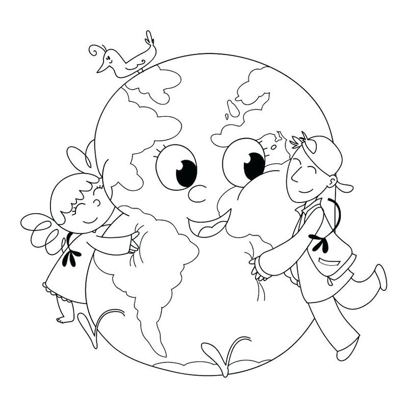 earth day coloring pages and cut out