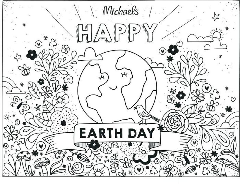 earth day coloring pages for older students