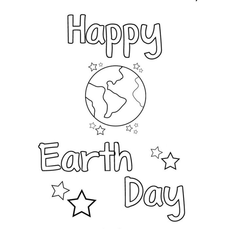 earth day coloring pages free printable