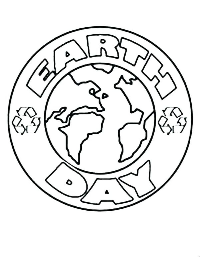 earth day coloring pages kindergarten printable