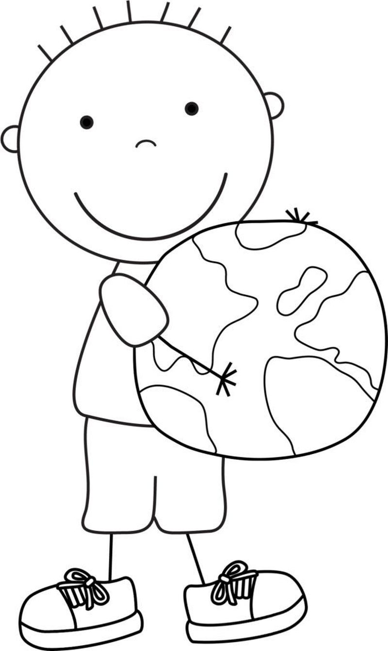 earth day coloring pages preschoolers
