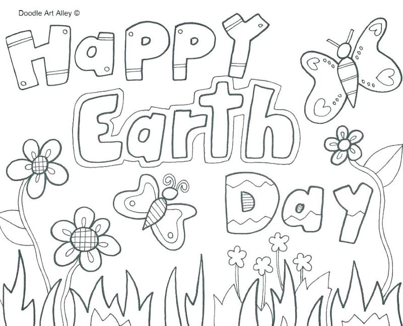 earth day flower coloring pages Printable
