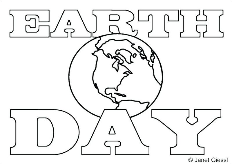 earth day for coloring pages free