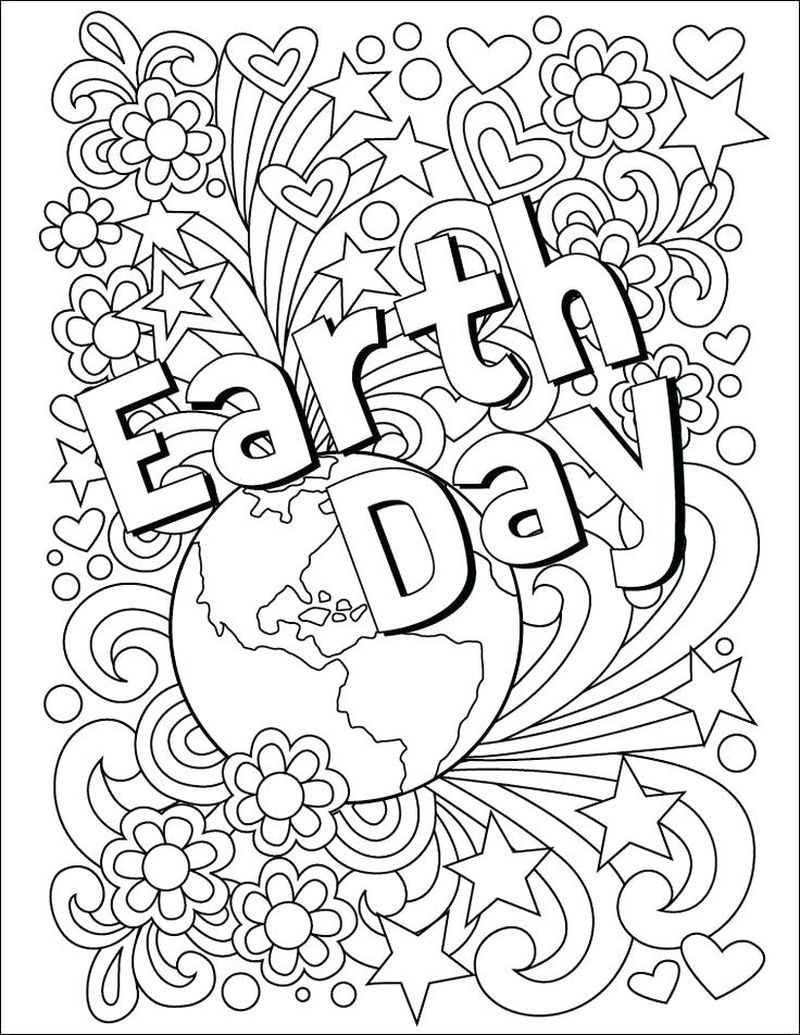 earth day free coloring pages Printable