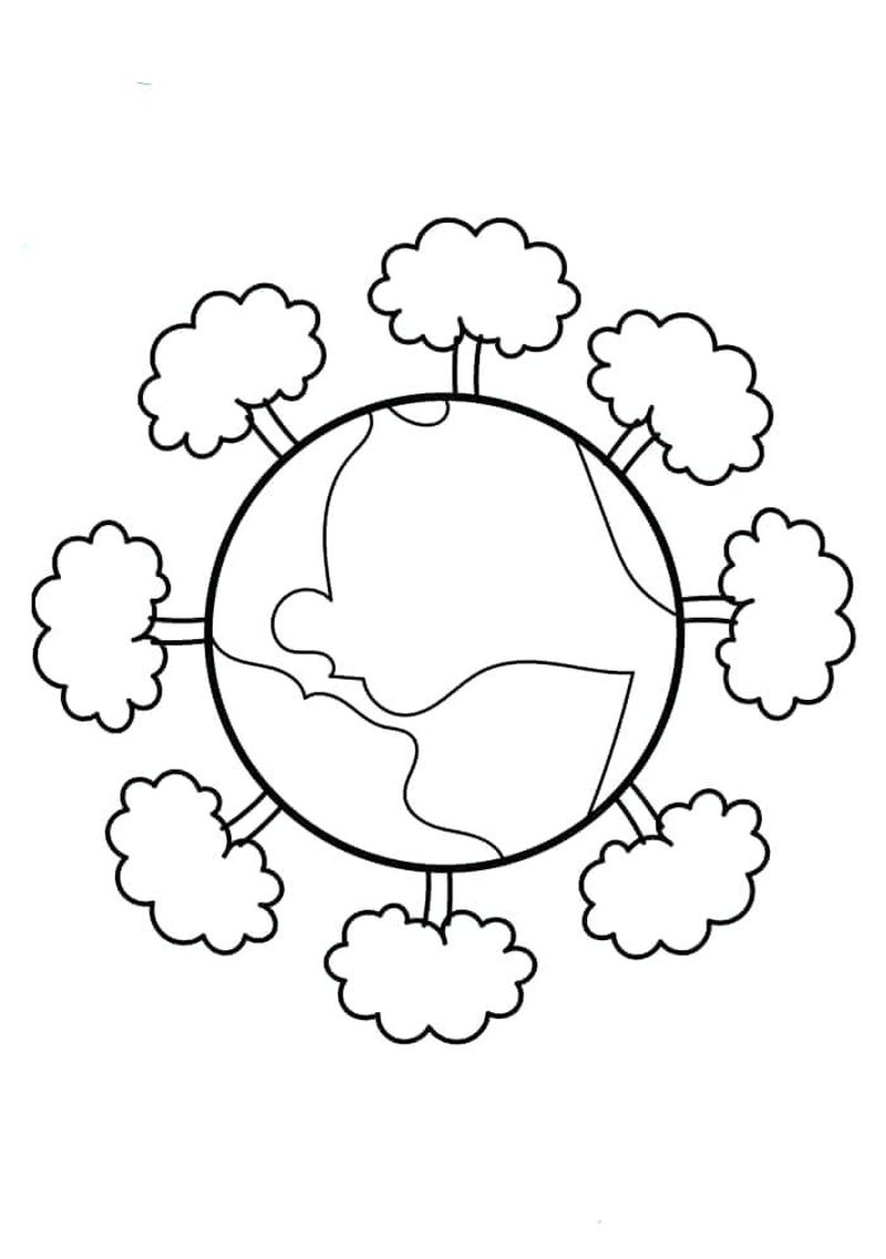 earth day kindergarten coloring pages Printable