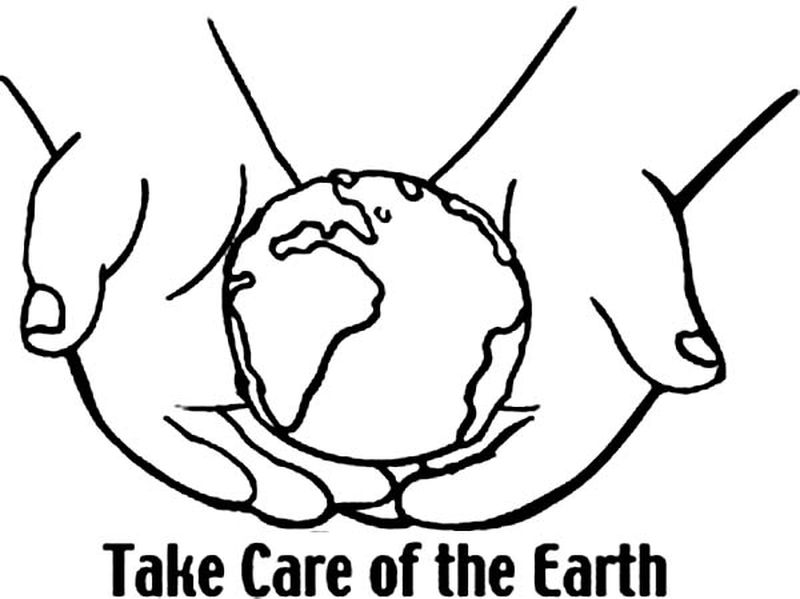 earth day rays coloring pages