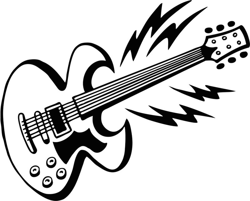 electric guitar coloring page print