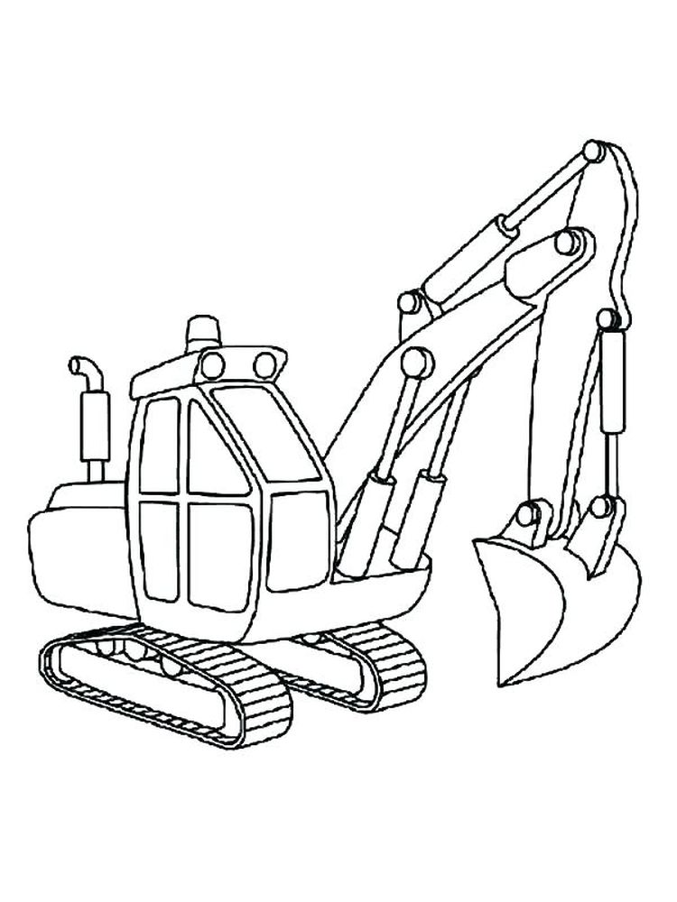 excavator coloring page to print pdf