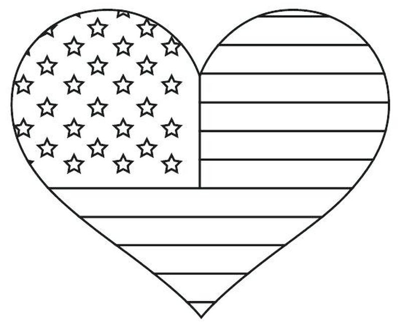 first american flag coloring page Printable