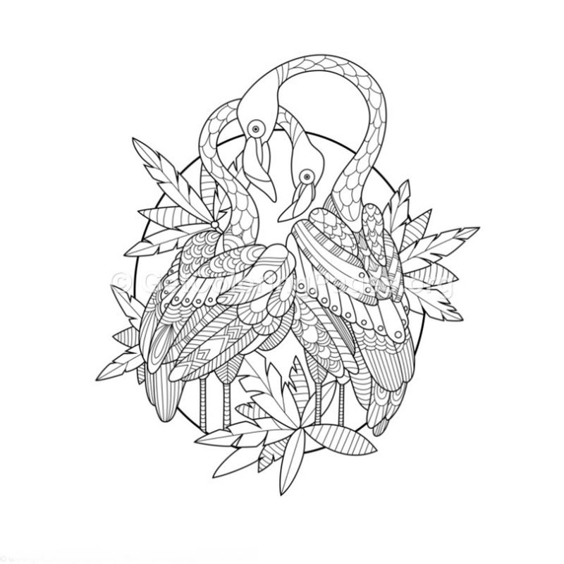 flamingo coloring pages to print