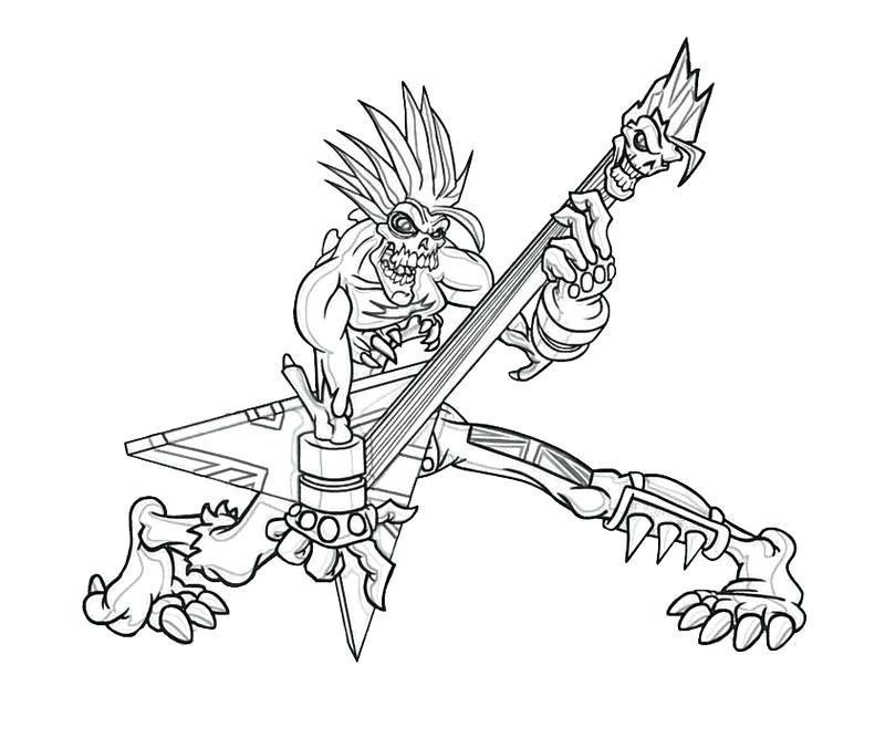 flying v guitar coloring page