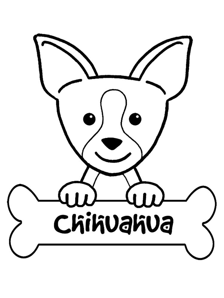 free PRINTABLE chihuahua coloring pages