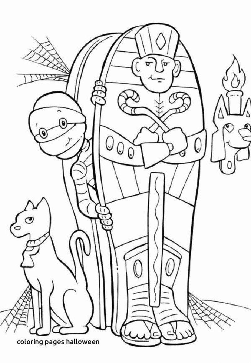 free PRINTABLE halloween ghost coloring pages witch cats