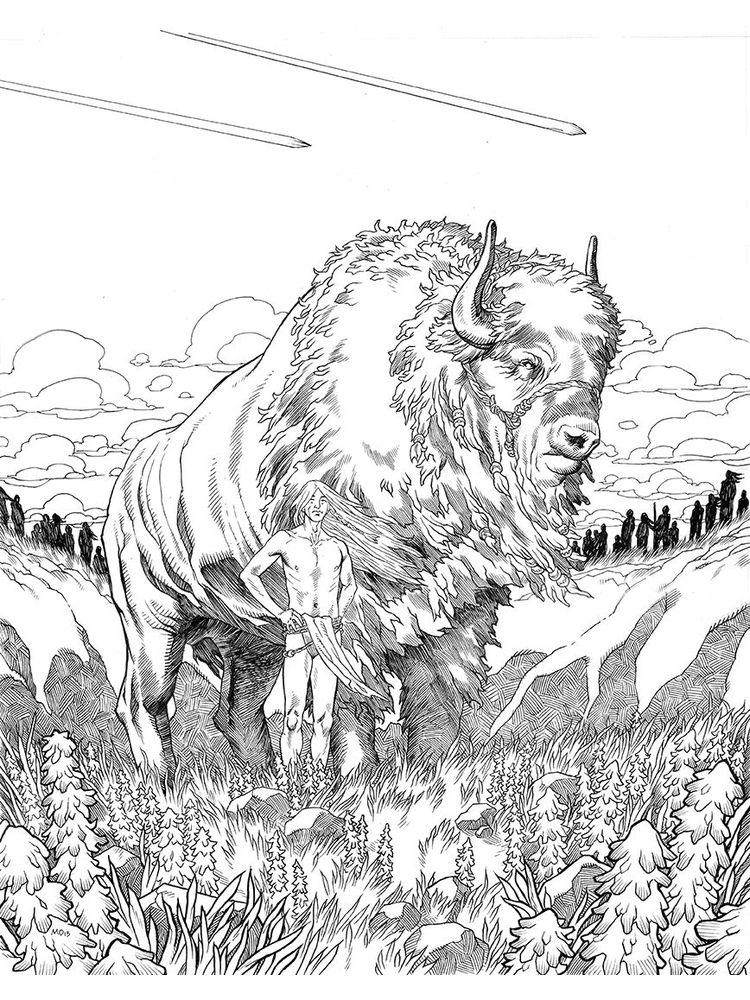 free baby buffalo coloring pages