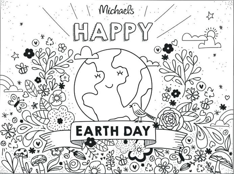 free coloring pages earth day Printable