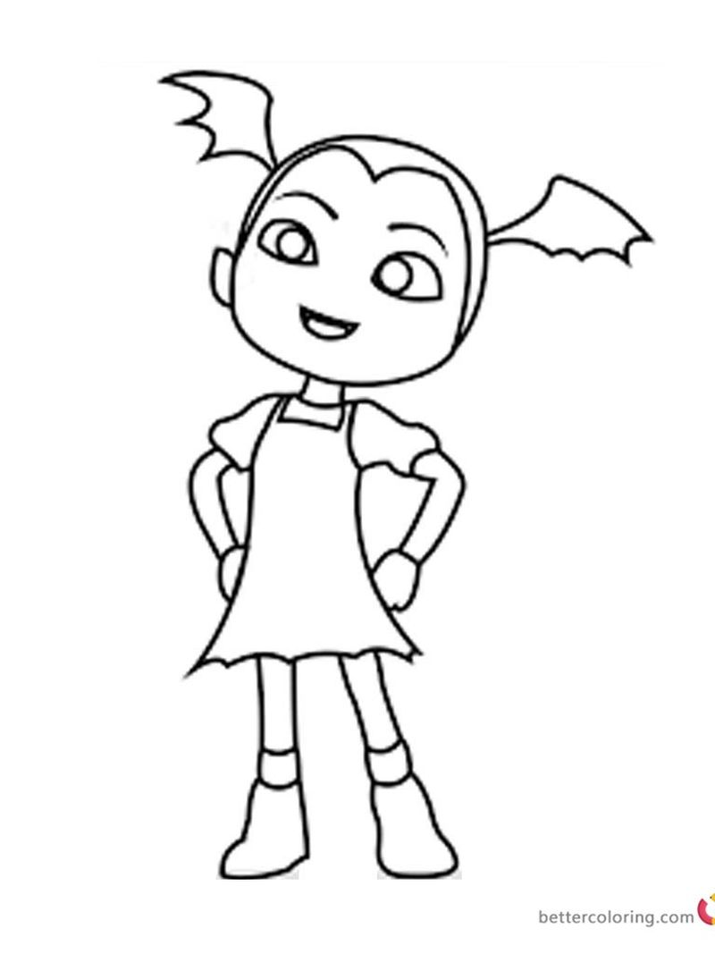 free coloring pages for girls no download vampirina