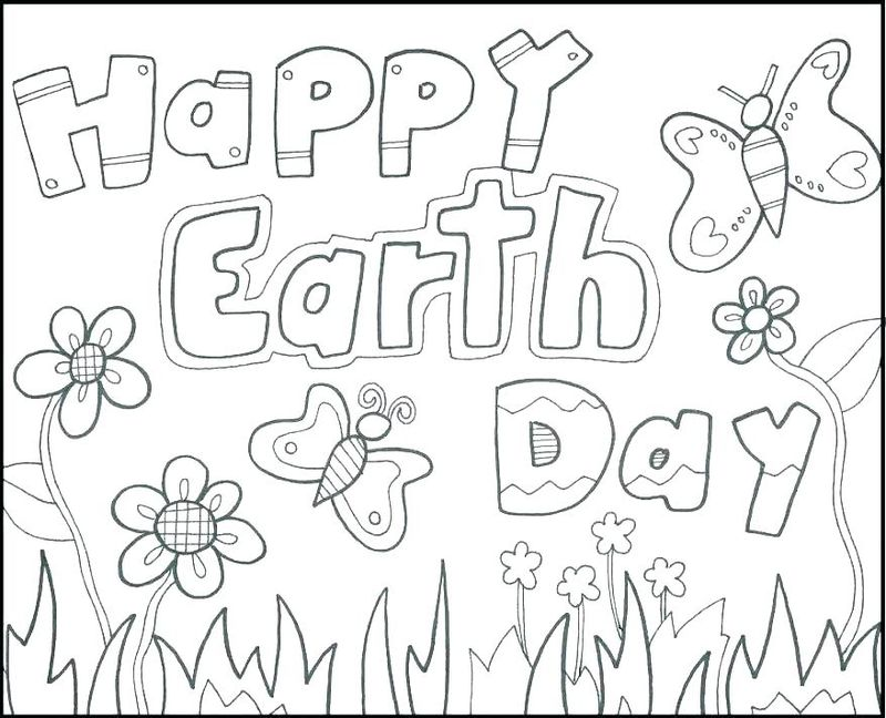 free coloring pages on earth day Printable
