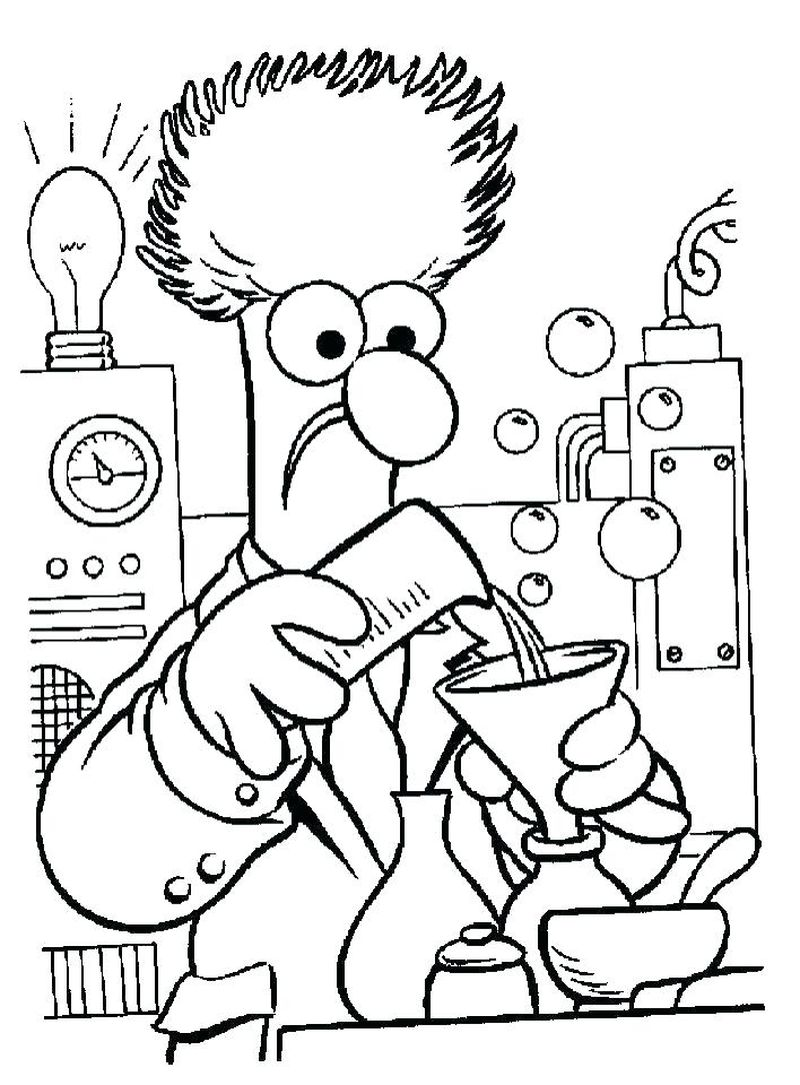 free coloring pages science
