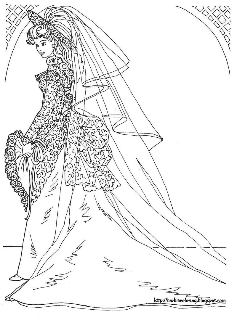 free disney wedding coloring pages