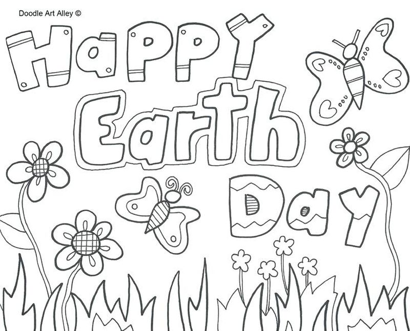 free earth day coloring pages Printable