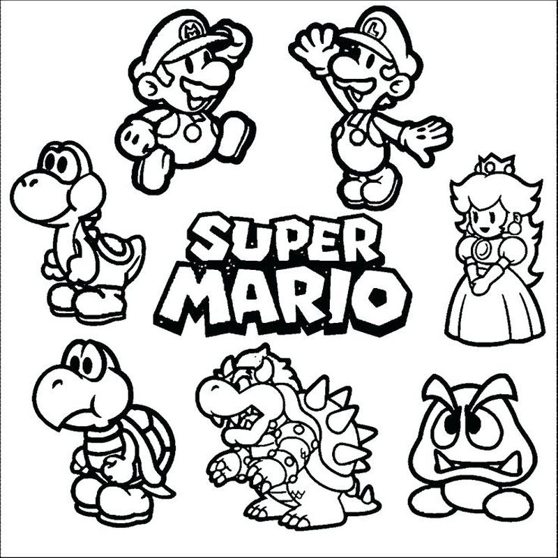 free online super mario coloring pages