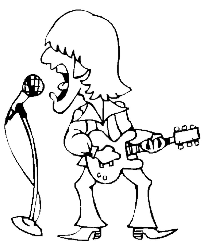 free sing caracter coloring pages