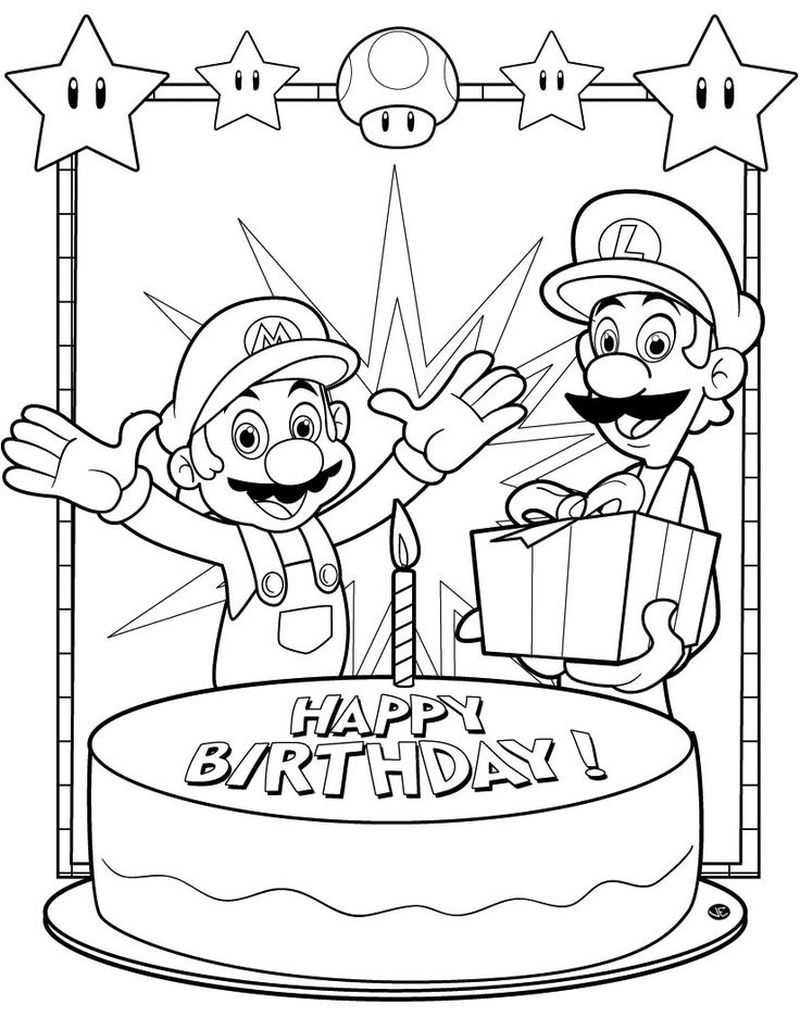 free super mario coloring pages to print