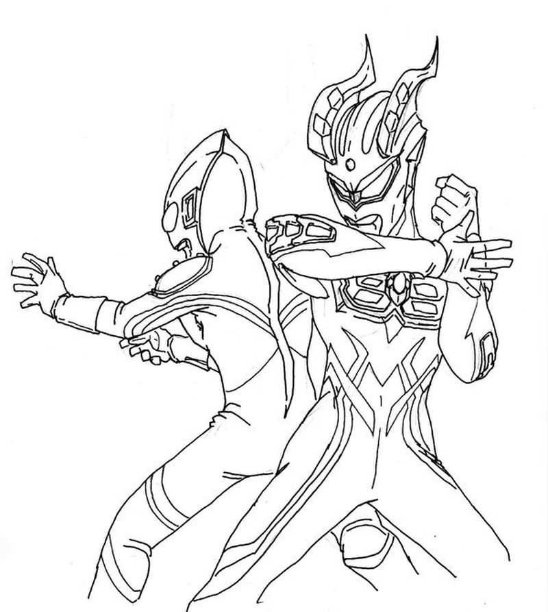 free ultraman coloring pages print