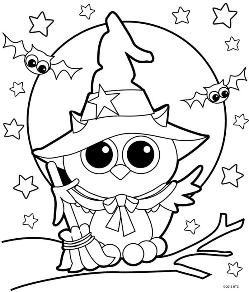 free witch coloring pages Printable