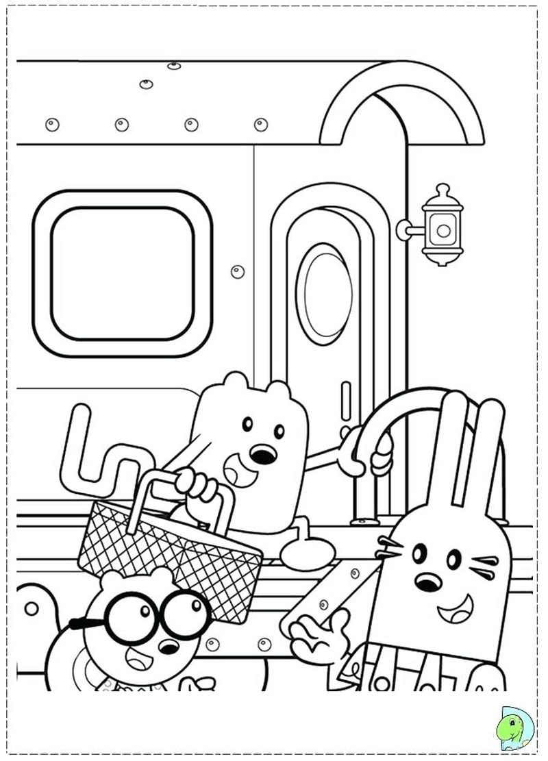 free wow wow wubbzy coloring