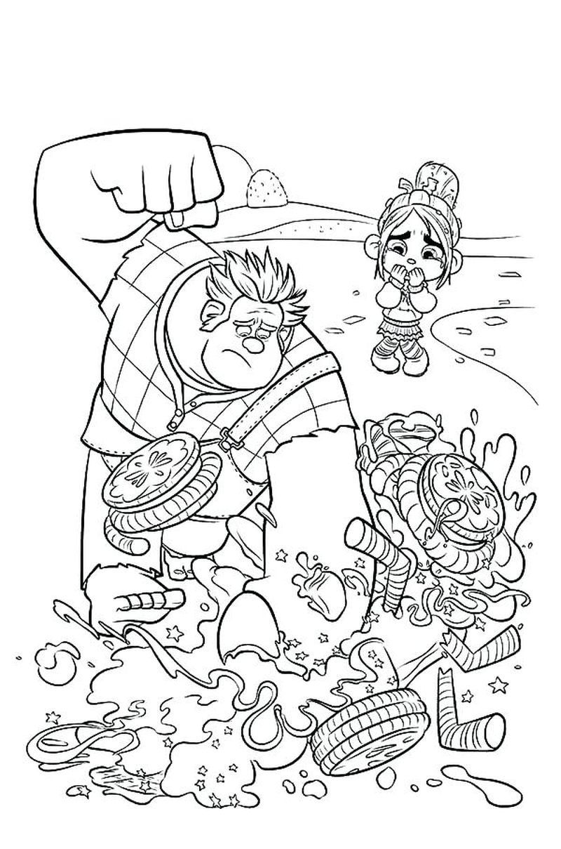 free wreck it ralph 2 coloring pages