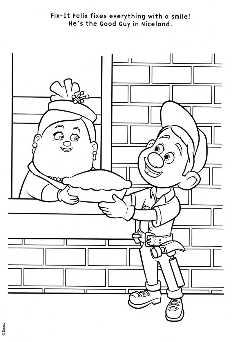 free wreck it ralph coloring pages Printable
