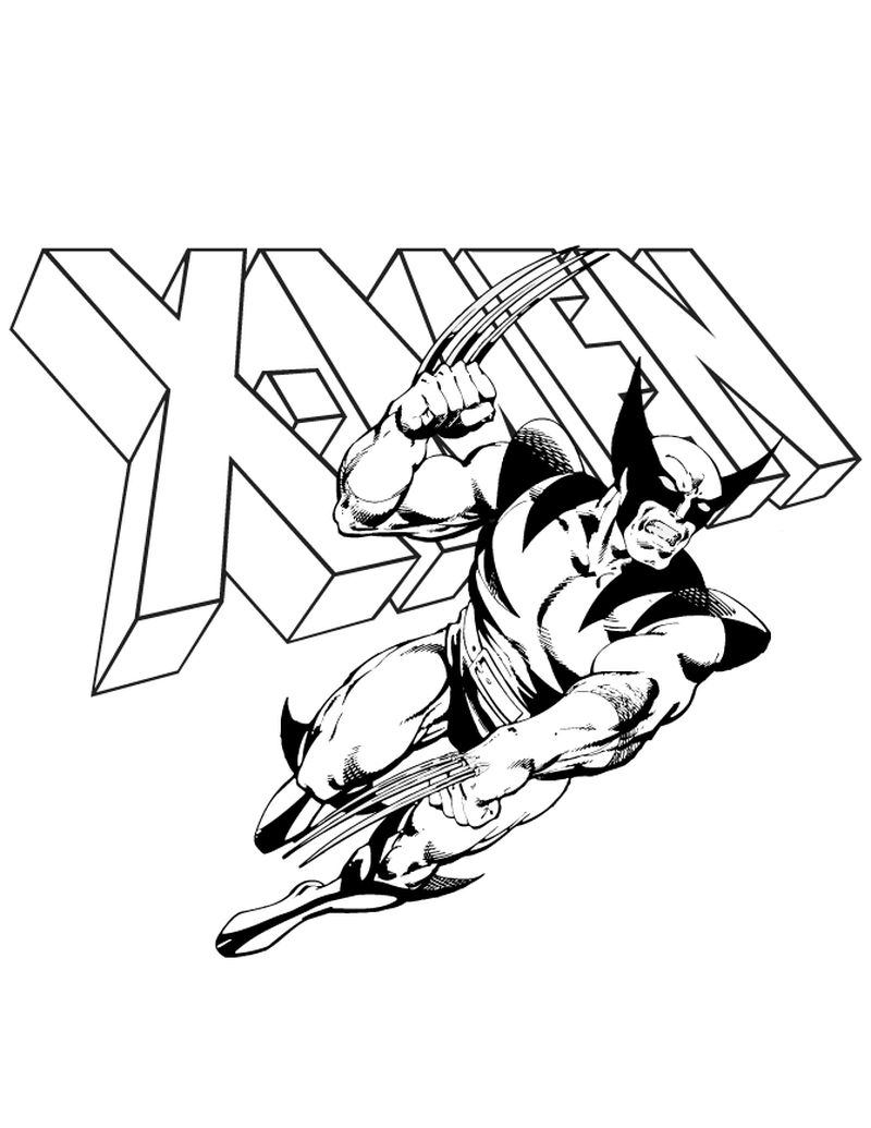 free x men coloring pages