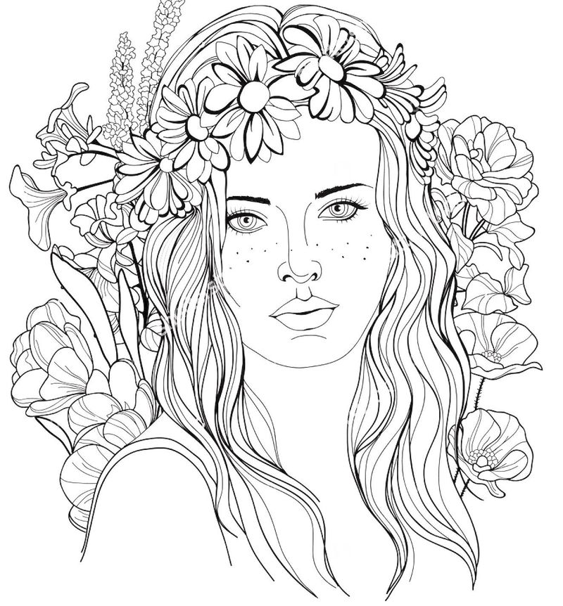 girl people coloring pages