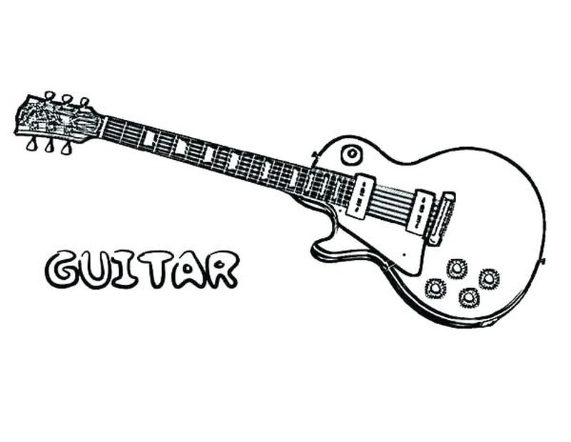 guitar coloring pages for preschool