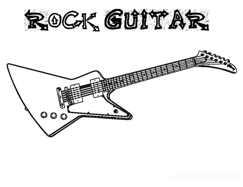 guitar coloring pages images print