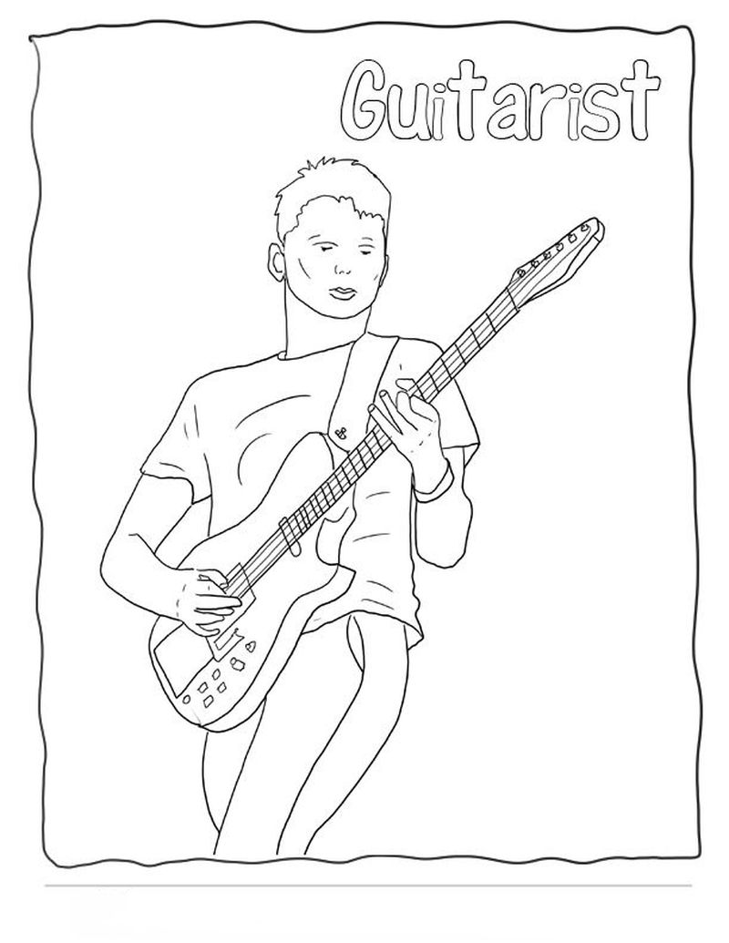 guitar coloring pages online print