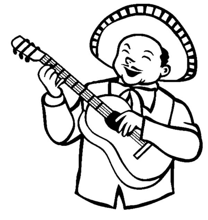guitar coloring pages online