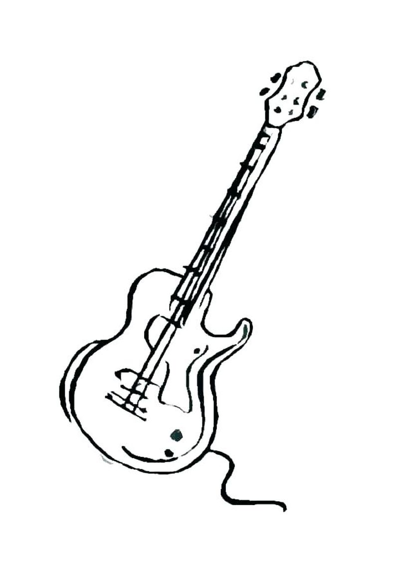 guitar coloring pages printable