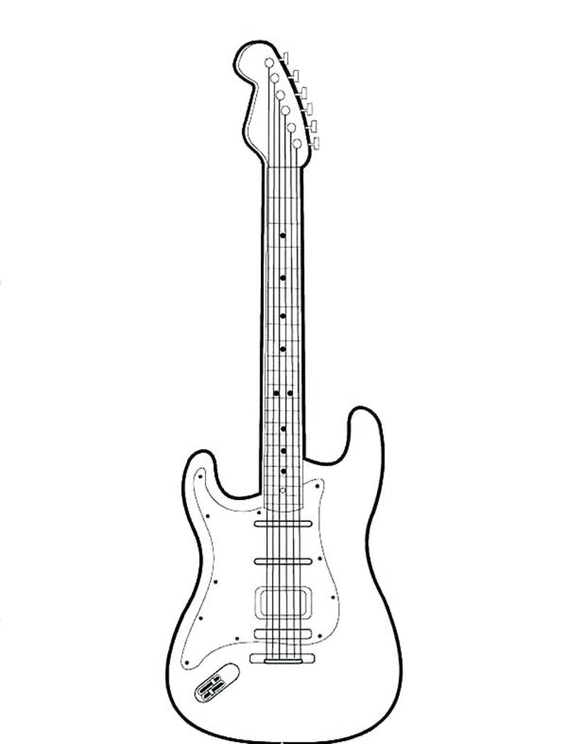 guitar coloring pages to print for free print